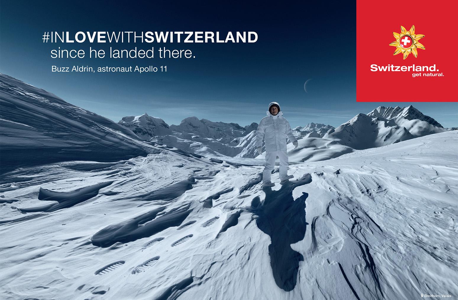 Plakat, Winter, Buzz Aldrin